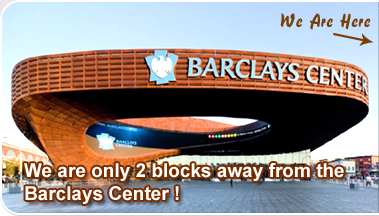 we are only 2 blocks away from the Barclays Center